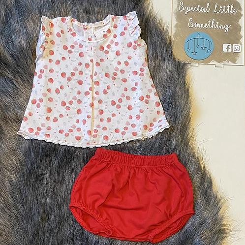 Calamaro 'Sally' Strawberry Summer Top & Shorts