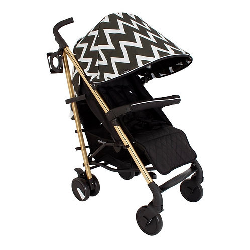 My Babiie Black & White Chevron Lightweight Stroller