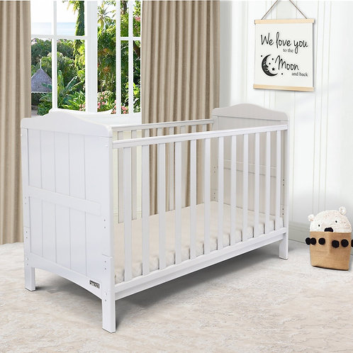 iSafe 'Monika' Cotbed in White with free mattress