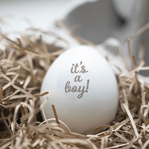 Wooden 'It's A Boy' Personalised Egg