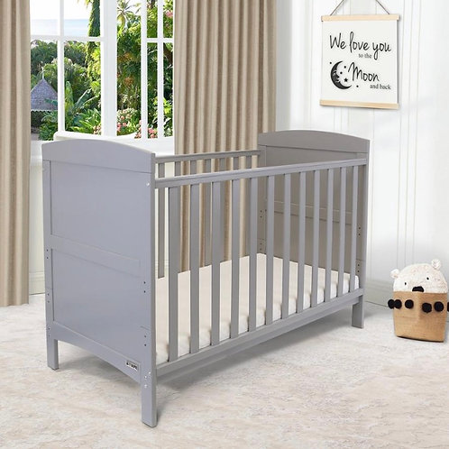 iSafe Arnie Cotbed in Grey with Free Mattress