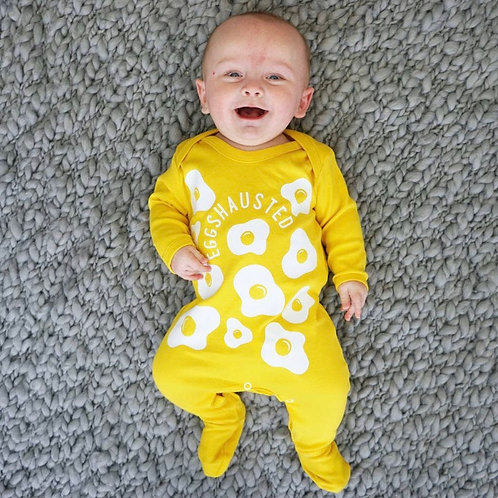 Sparks & Daughter Eggshausted Sleepsuit