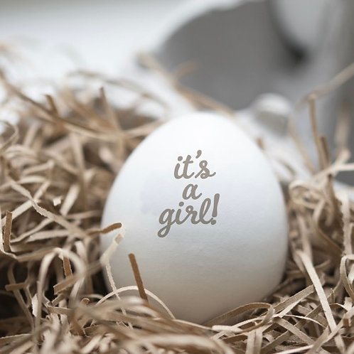 Wooden 'It's A Girl' Personalised Egg