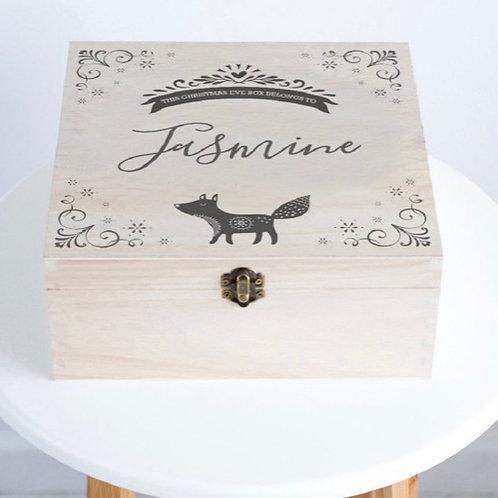 Personalised Fox Christmas Eve Box