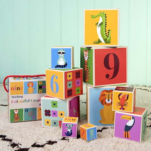 Rex London Colourful Creatures Stacking Blocks