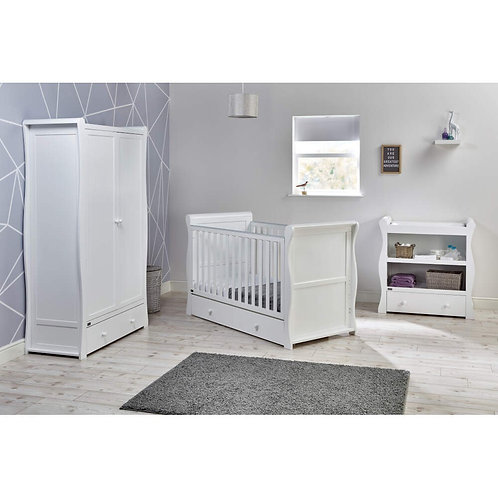 East Coast 'Nebraska' Collection - White Cot Bed