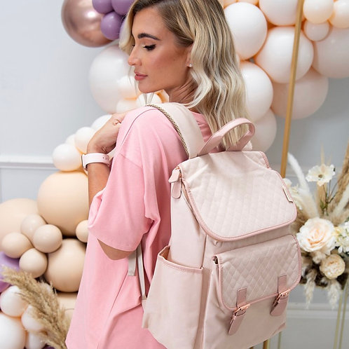Billie Faiers Blush Backpack Changing Bag