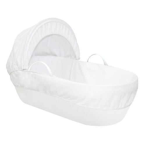 Shnuggle Classic Moses Basket in Pure White