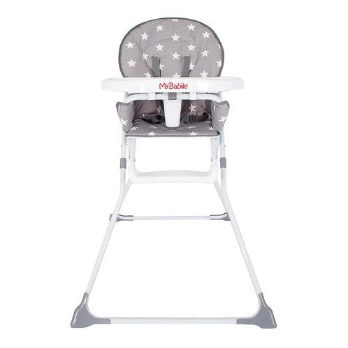 My Babiie Grey Stars Compact Highchair