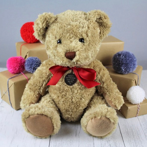 Personalised Bramble the Bear - Red Bow