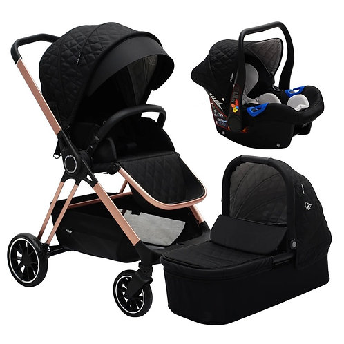 Billie Faiers Black Quilted Travel System