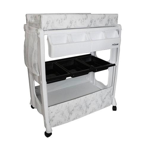 Grey Marble Baby Bath & Changing Unit
