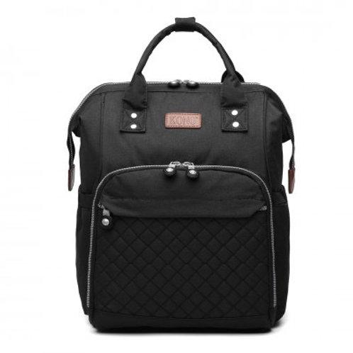 Black Backpack Changing Bag