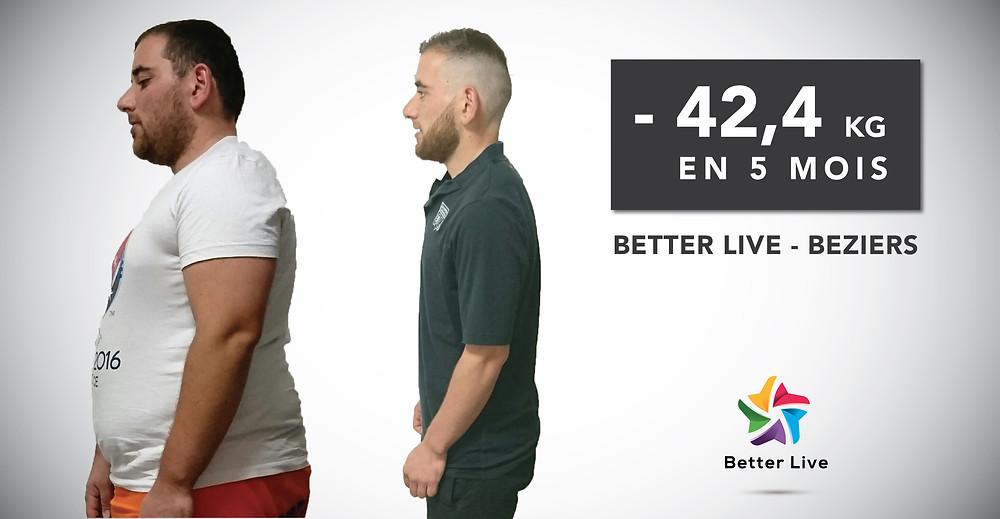 - 42,4 kg en 5 mois : Mathieu Témoigne