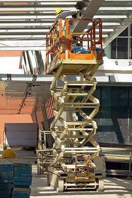 Photo of a technician on a crane