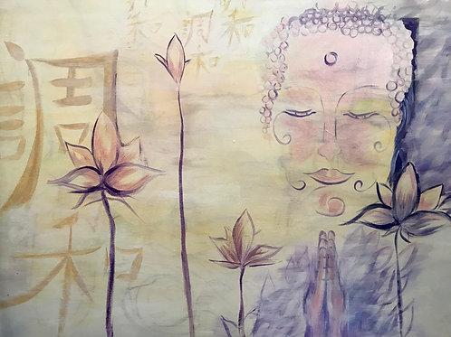 Harmony - Buddha Acrylic Painting