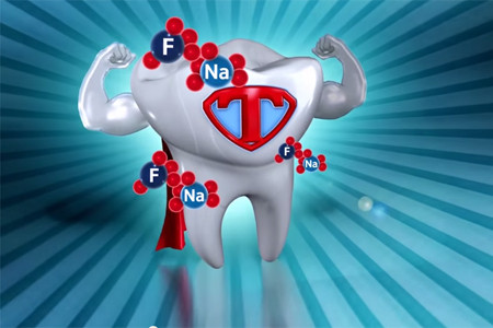 How does fluoride protect the enamel?