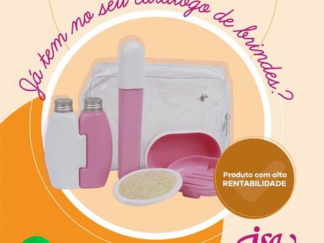 Seu catálogo de brindes já tem os nossos kits de higiene pessoal?