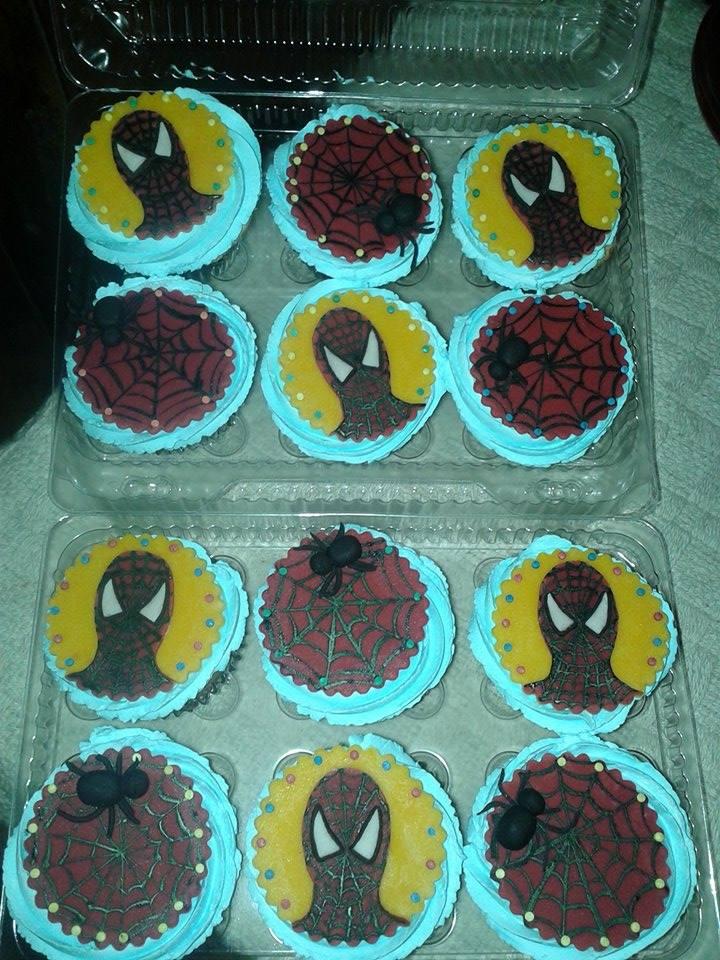 Cupcake spider man