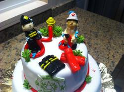 Pastel bomberos