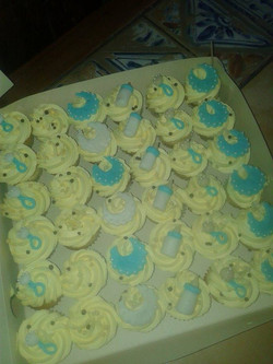 Mini cupcakes de baby shower