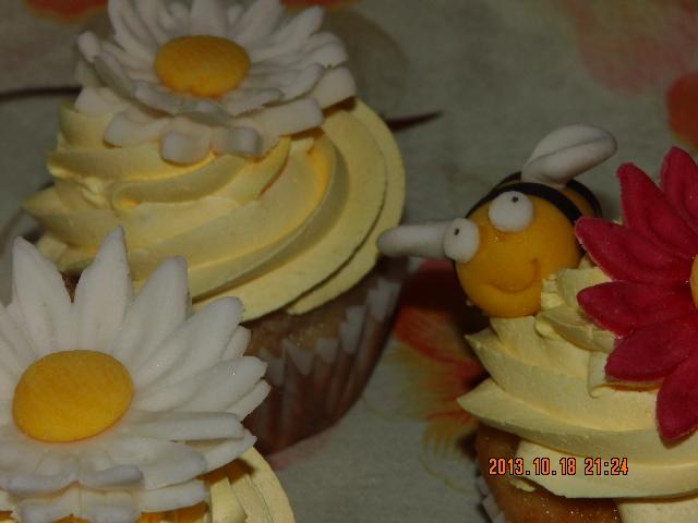 Cupcake margaritas y abejas