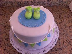 Pastel baby shower Santino