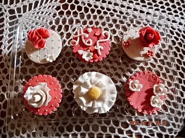 Cup cakes de fondant