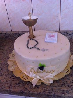 Pastel primera comunión Alexis