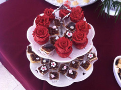 Mini cup cakes y mini panqueques