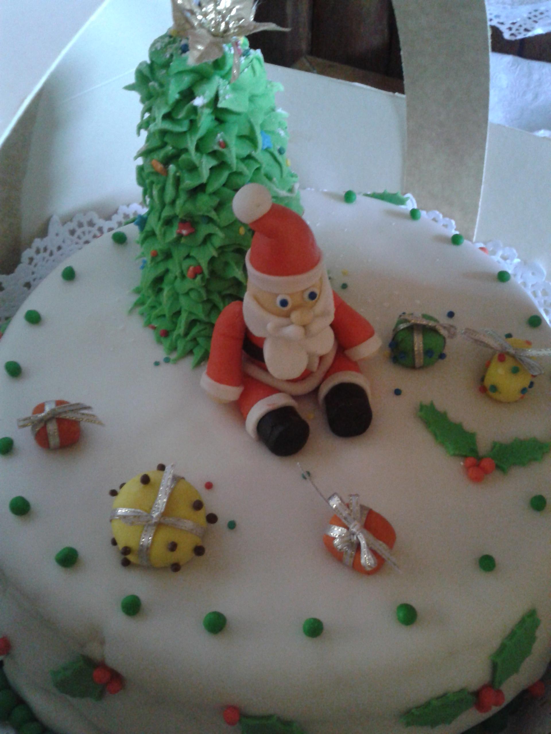 Navidad  en masa de azúcar