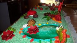 Torta en el jardín