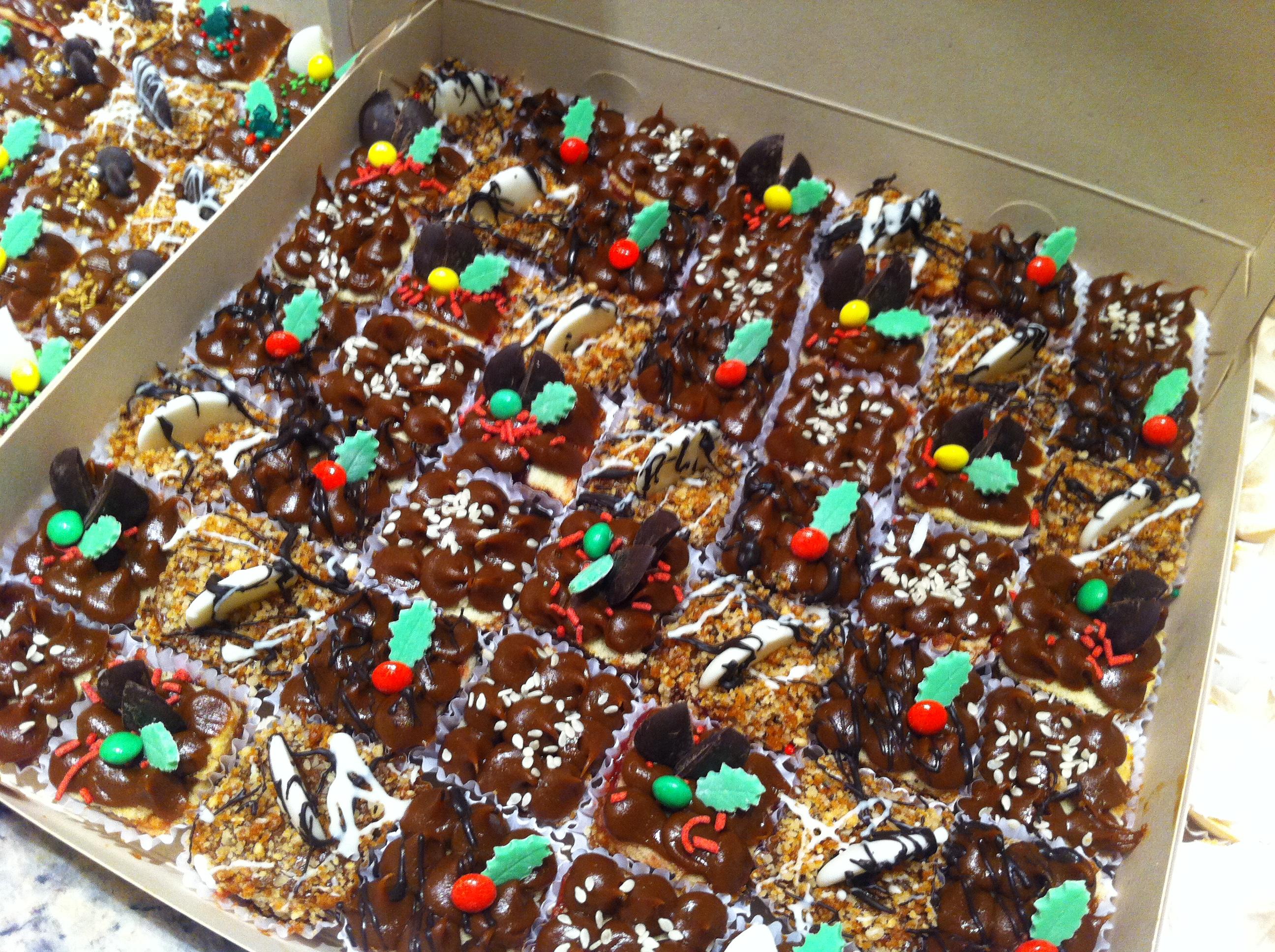 Mini pastelillos navideños