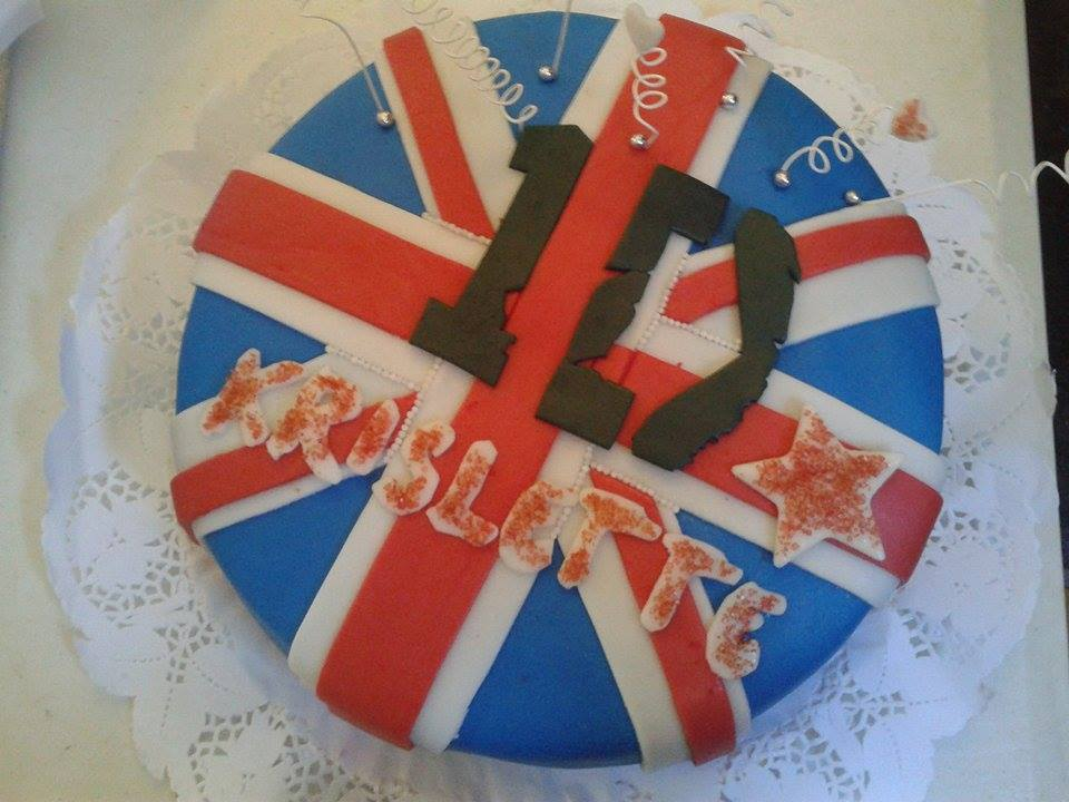 Pastel one direction con bandera