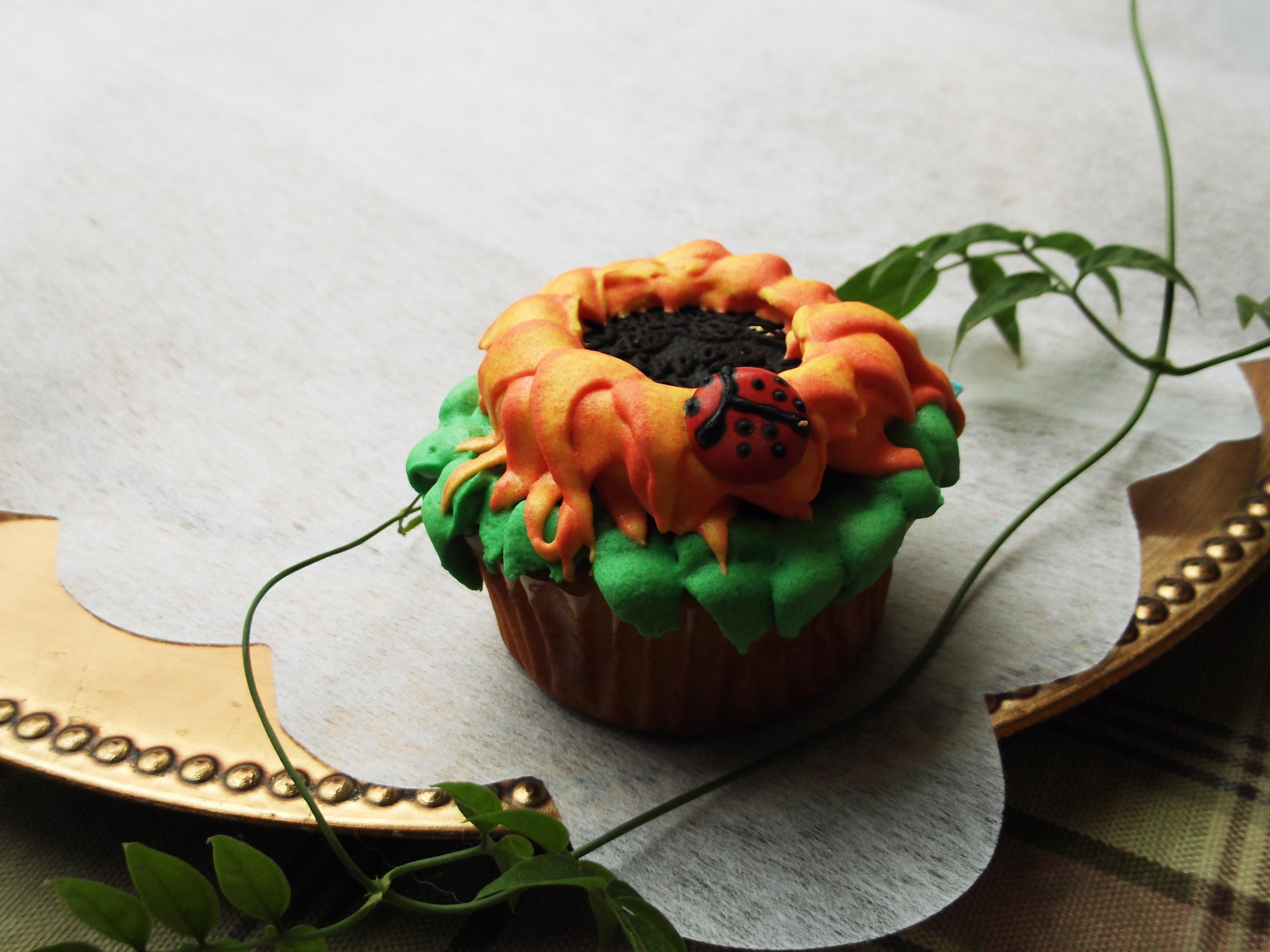 Cupcake de girasol