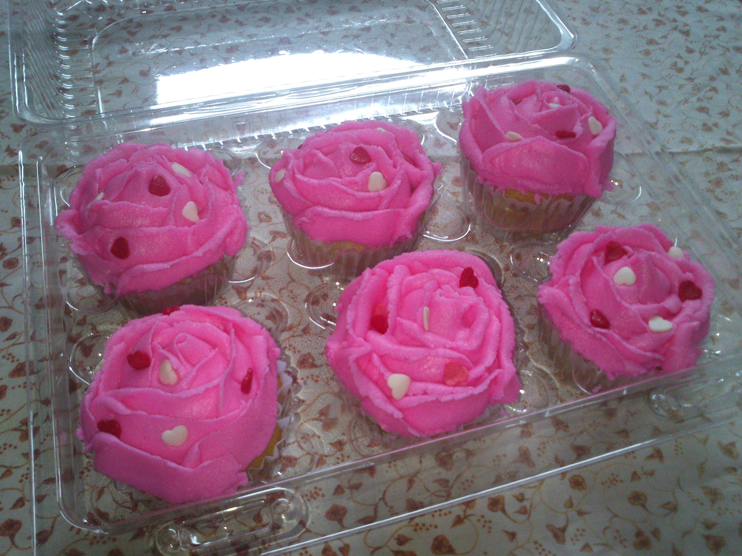 Cupcake en forma de rosa