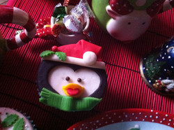 Cupcake de navidad