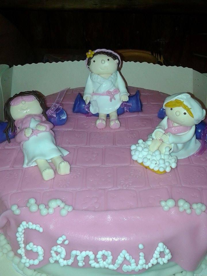 Pastel día de spa niñitas
