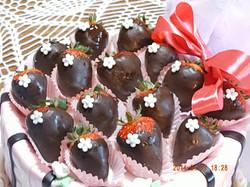 Frutillas y chocolate