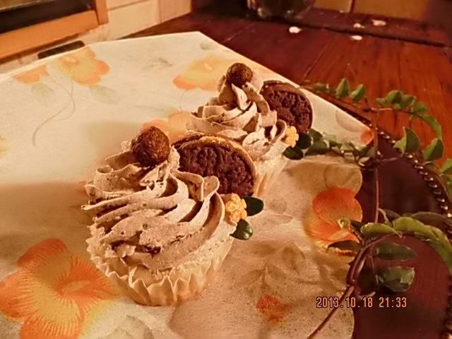 Cupcake con crema de oreo