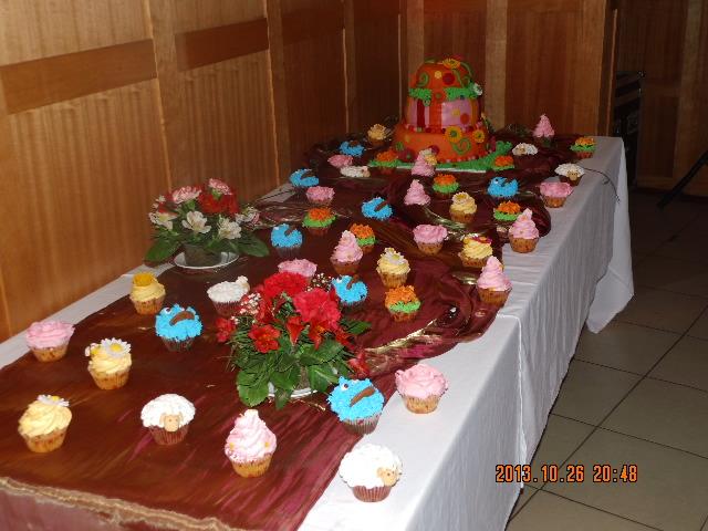 Bufet de cupcakes