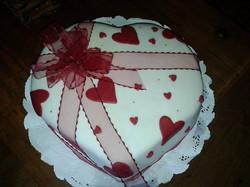Pastel de corazón