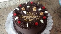 Pastel ganache chocolate