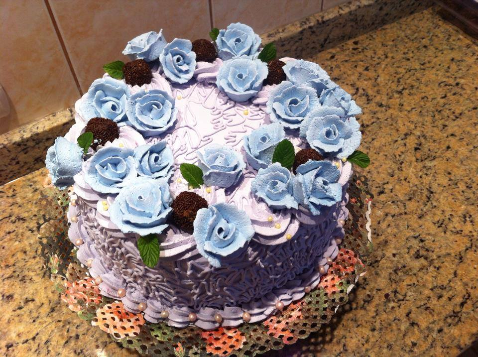 Pastel chantilly flores