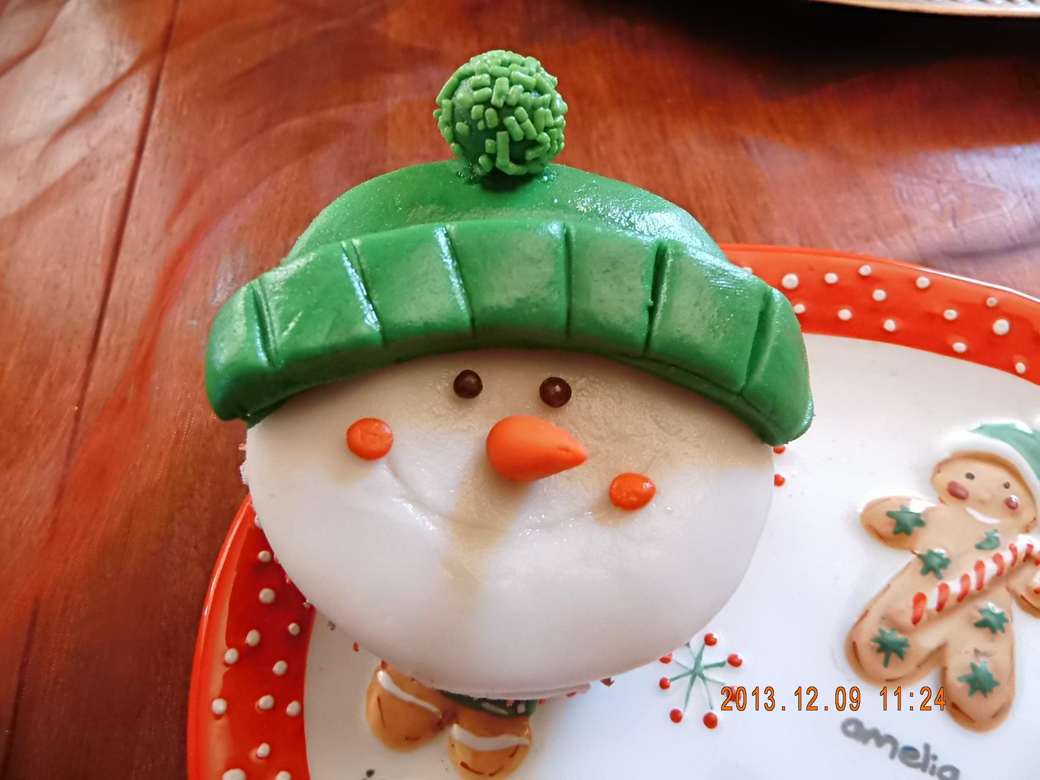 Monito de nieve de azúcar