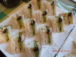 Mini sandwich de miga