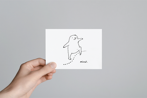 Crossed My Mind Greeting Card