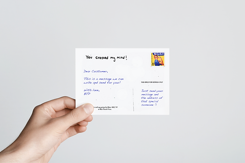 Let Us Write Your Postcard For You!