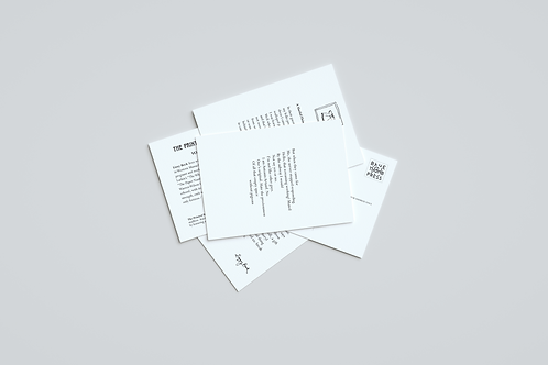 Bimonthly Subscription for a year to the Printed Poetry Project