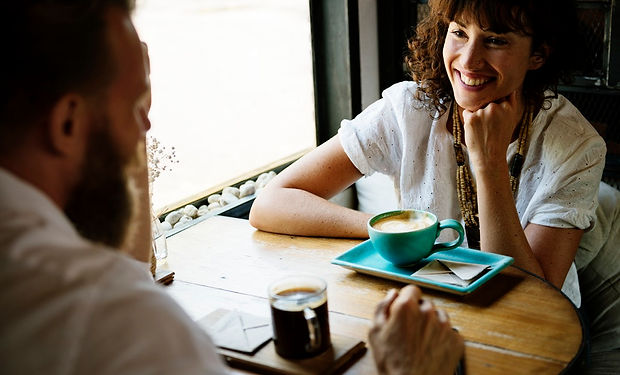 Woman meeting with her 12-step Sponsor